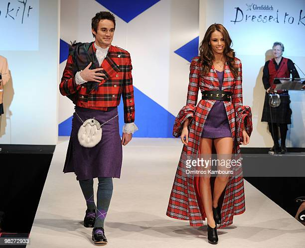 Rugby Player Thom Evans walks the runway at the 8th annual Dressed To Kilt Charity Fashion Show at M2 Ultra Lounge on April 5 2010 in New York City