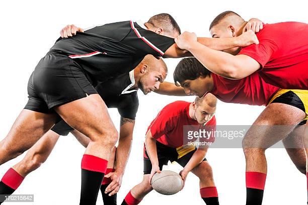 Giocatori di Rugby in azione.