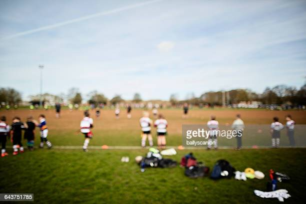 rugby practice. - rugby pitch stock pictures, royalty-free photos & images