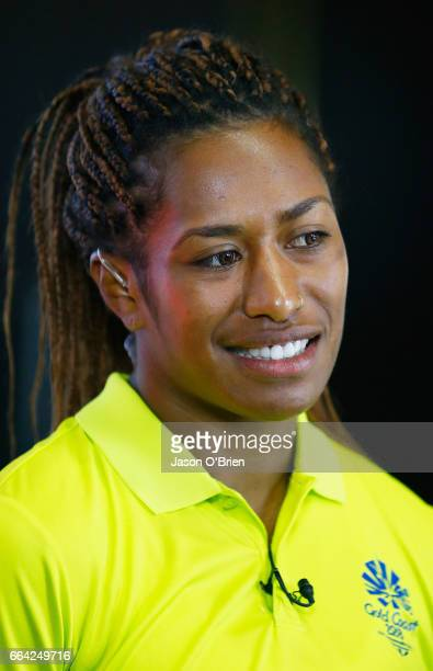 Rugby sevens player Ellia Green during the 2018 Commonwealth Games One Year To Go ceremony at The Star Gold Coast on April 4 2017 in Gold Coast...