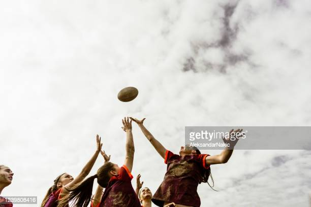 rugby team in action - match sport stock pictures, royalty-free photos & images