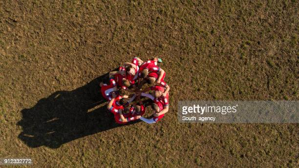 rugby team spirit - rugby league stock pictures, royalty-free photos & images