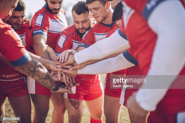 rugby team unity - team sport stock pictures, royalty-free photos & images
