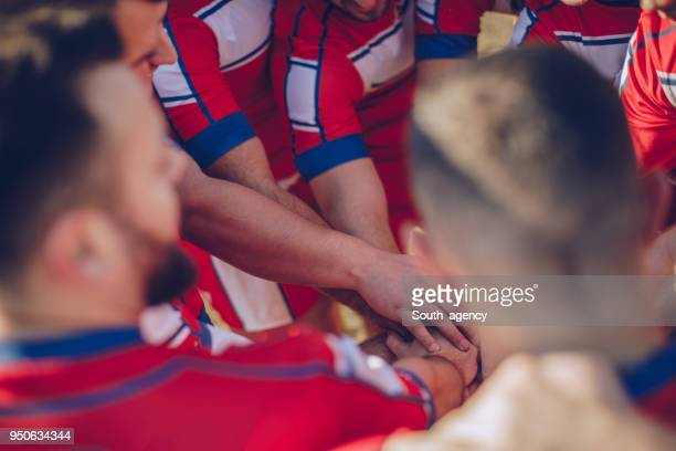 rugby team unity - rugby league stock pictures, royalty-free photos & images