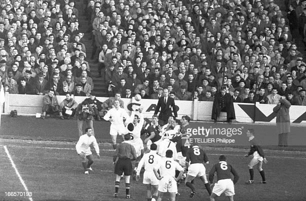 Rugby Tournament Of Five Nations France Scotland Colombes 7 Janvier 1961 Lors du Tournoi des 5 nations FranceEcosse remporté par l'Équipe de France...