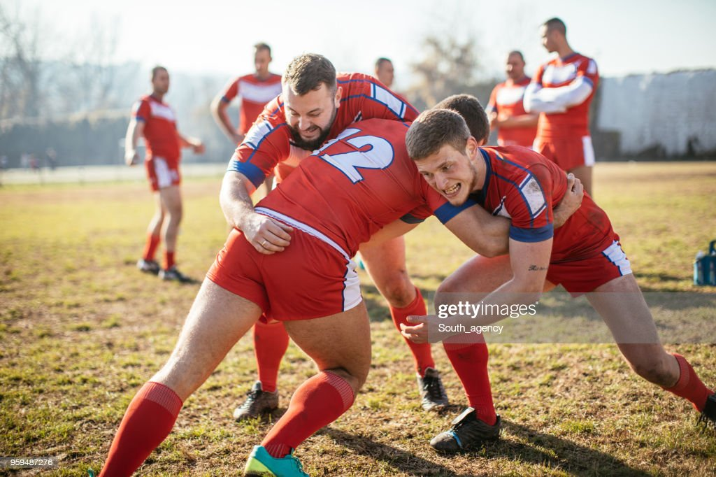 Rugby-Training Training : Stock-Foto