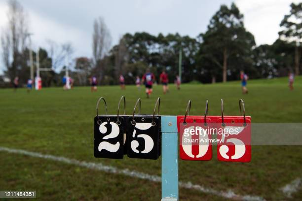 rugby union action - scoreboard stock pictures, royalty-free photos & images