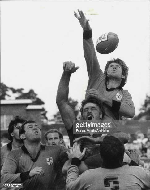 Rugby Union at Millner Field City vs Country May 14 1983