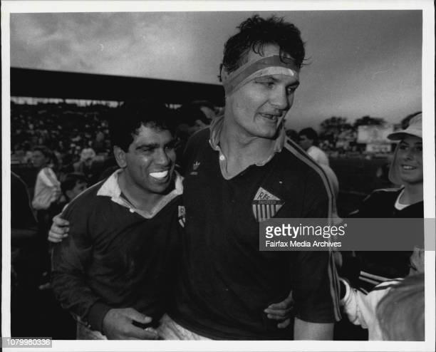 Rugby union grand final Randwick Vs Warringah at Concord OvalGlen Ella amp Tim Kava September 17 1988
