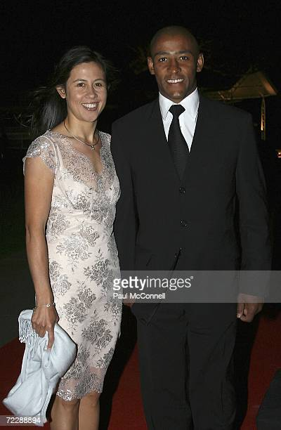 Rugby Union player George Gregan and his wife Erica attend The Mother Of All Balls a Casino Royalethemed chairty event at Royal Randwick on October...