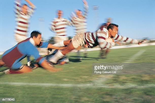 Rugby Union Player Scoring For His Team
