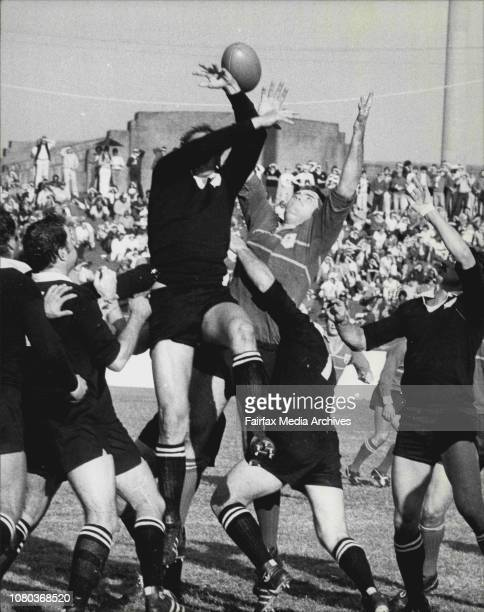 Rugby Union Sydney Vs All Blacks at Sydney Cricket GroundAndy Haden easily outjumps his Sydney Rival Ray Evans May 31 1980