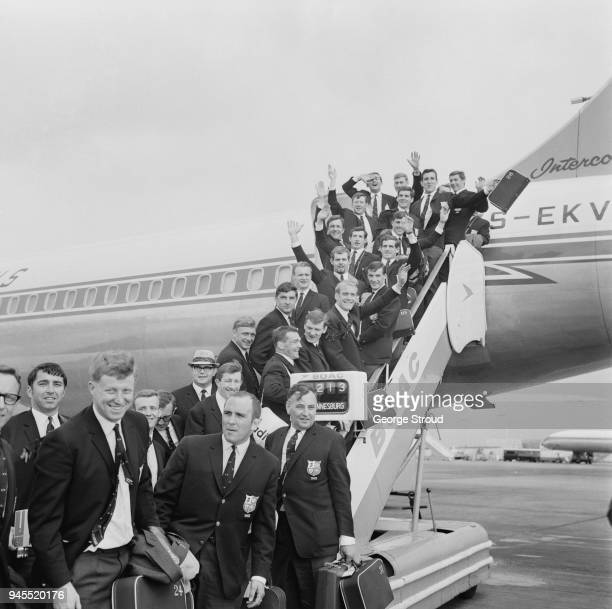 Rugby Union team British Lions leave for Tour to South Africa Heathrow Airport UK 13th May 1968