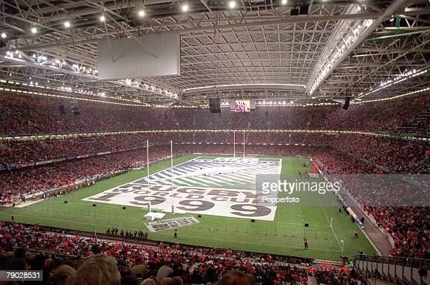 Rugby Union World Cup Cardiff 1st October Wales 23 v Argentina 18 The Millennium Stadium in Cardiff with its retractable roof closed