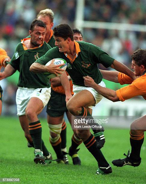 Rugby World Cup 1995 South Africa v Australia Joost Van Der Westhuizen breaks through the Australian defence