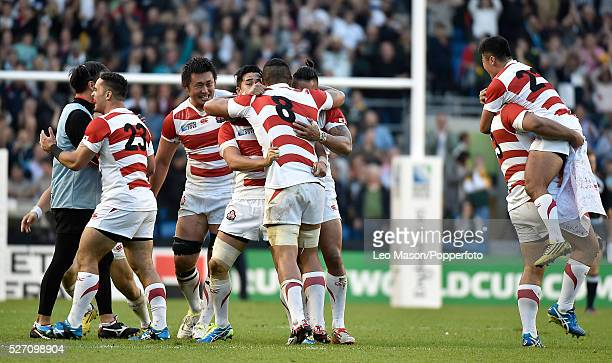 Rugby World Cup at Brighton Stadium UK South Africa v Japan In a major upset Japan beat Soutjh Africa 3432