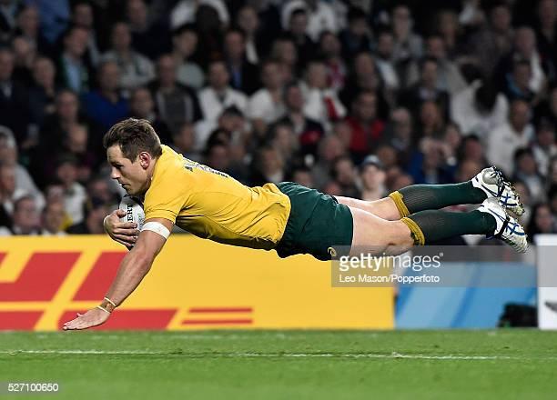 Rugby World Cup RFU Twickenham Stadium London UK England v Australia Bernard Foley scores a try for Australia who won the match 3313