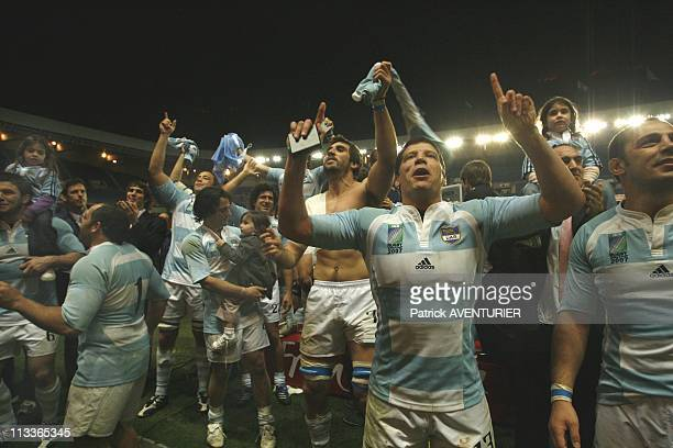 Rugby World Cup Third Place Match Argentina Defeats France 3410 In Paris France On October 19 2007 The argentine team