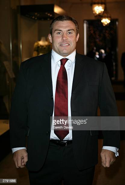 Rugby World Cup winner Jason Leonard attends the National TV Awards Party of the Year at the Royal Opera House December 7 2003 in London