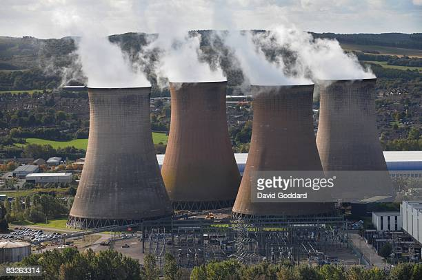 Rugeley Power Station is seen in this aerial photo taken on October 8 2008 in Rugeley Staffordshire England Gas and electricity prices have soared...
