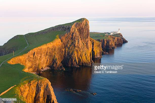 Rugged cliffs at sunset, Neist Point, Isle of Skye