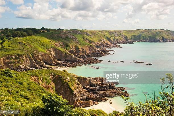 robusto costa di guernsey - isola di guernsey foto e immagini stock