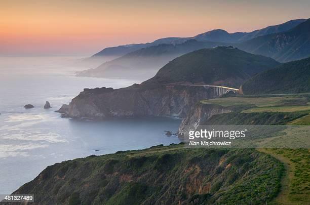 rugged coastal headlands of big sur california - big sur stock pictures, royalty-free photos & images