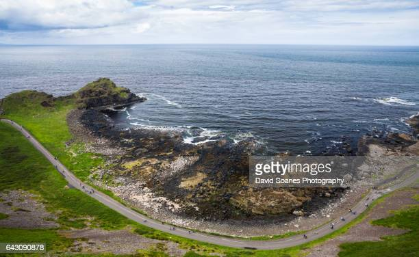 A rugged coastal landscape along the Causeway Coast in Antrim, Northern Ireland