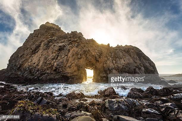 Rugged Keyhole Rock Arch