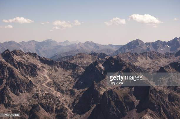 rugged mountain landscape on sunny day, france - frej stock pictures, royalty-free photos & images