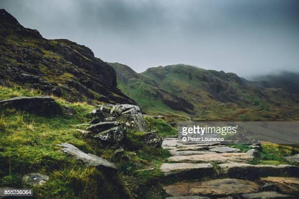 Rugged mountain path