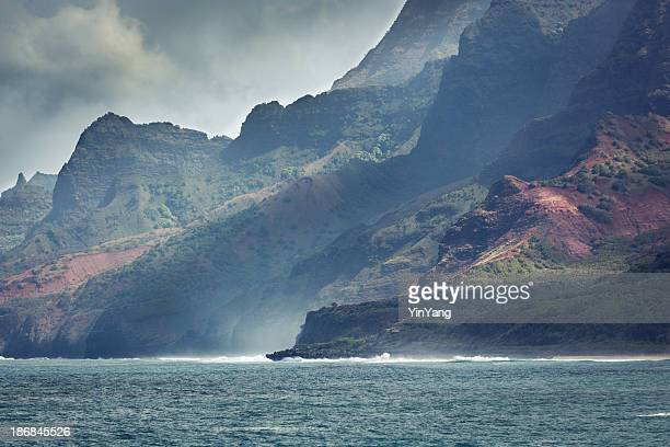Rugged Na Pali Coast of Kauai Hawaii Hz