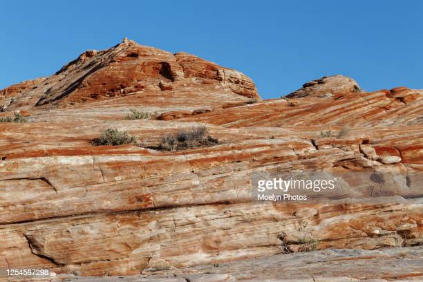 rugged terrain in valley of fire state park - rock strata stock pictures, royalty-free photos & images