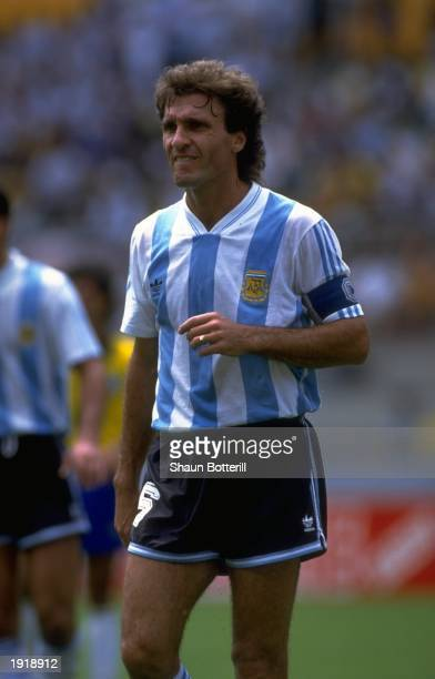 Ruggeri Captain of Argentina in action during the World Cup Qualifing match between Argentina and Brazil in Brazil Mandatory Credit Shaun...