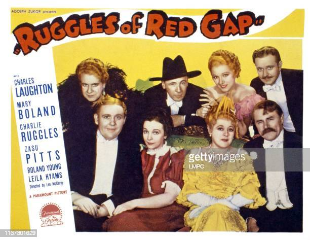 Ruggles Of Red Gap US lobbycard front from left Charles Laughton Zasu Pitts Mary Boland Charles Ruggles back from left Maude Eburne Roland Young...