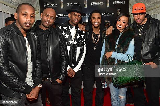 Ruggs Alex Gidewon Trey Songz Monica and Shannon Brown attend Trey Songz Private Launch of SX Liquors and Official Concert After Party at Compound on...