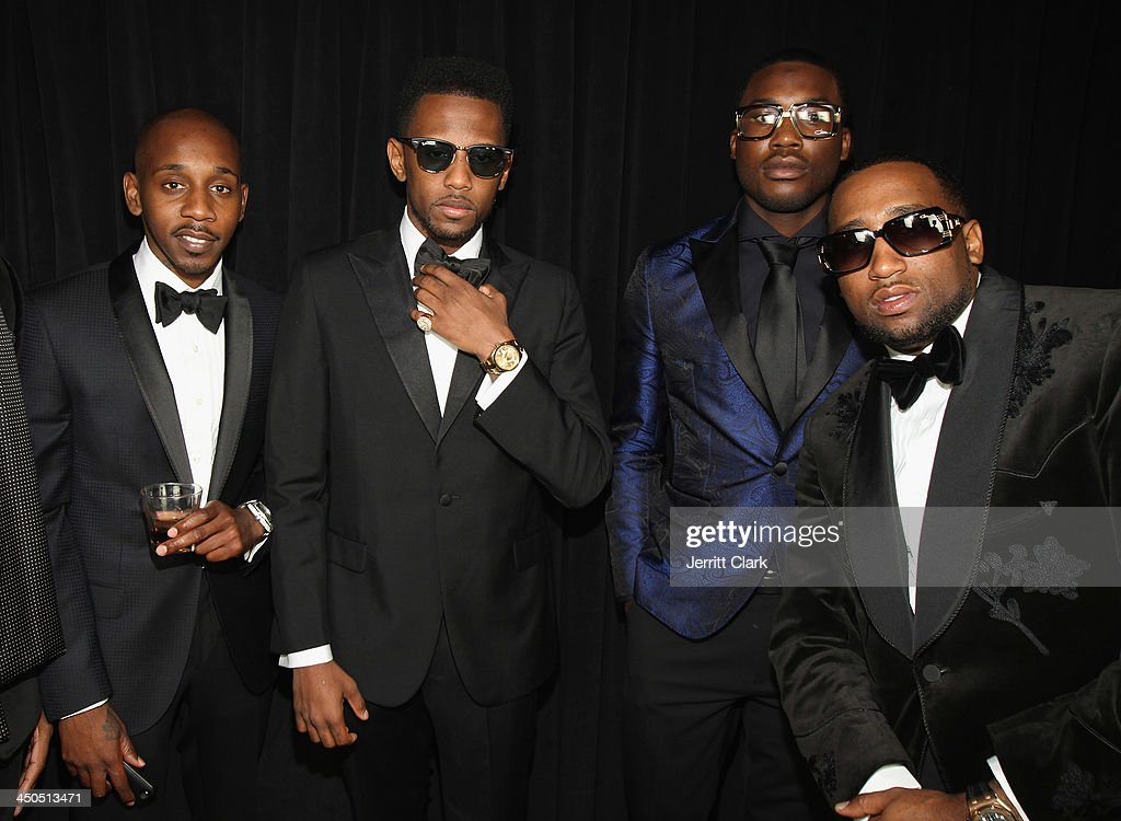 Ruggs, Fabolous, Meek Mill and Slow Bucks attend Fabolous' The Great Fabsby Birthday Celebration at Jazz Room at the General on November 18, 2013 in New York City.