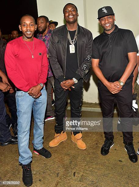 Ruggs Meek Mill and Alex Gidewon attend Compound on April 18 2015 in Atlanta Georgia