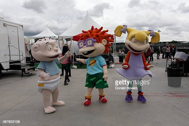 Rugrats characters attend the Nickelodeon sponsored 90sFEST Pop Culture and Music Festival on September 12 2015 in Brooklyn New York