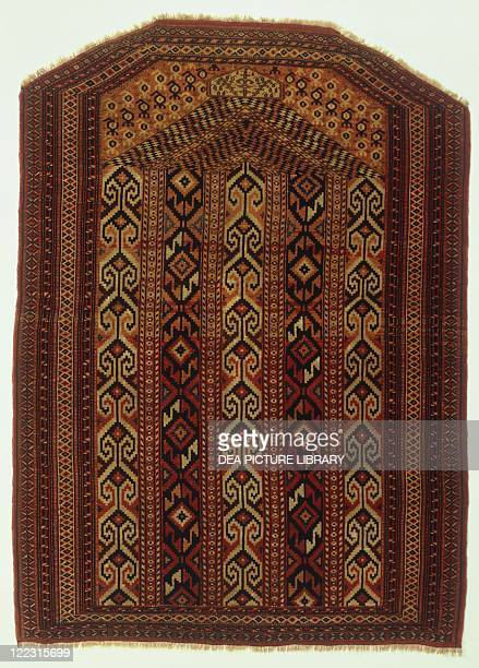 Rugs and Carpets Russia Turkestan 20th century Salatchak carpet coming from Ersari tribe and used as a cradle