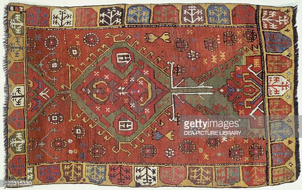 Rugs and Carpets Turkey Anatolia 19th century Konya carpet weaved by Yuruk nomadic people