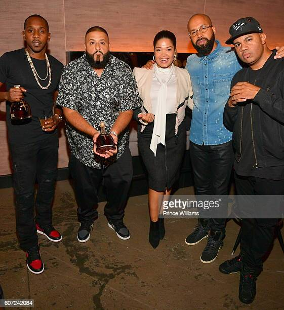 Rugs Dj Khaled Elaine Hamilton Kenny Burns and Lenny Santiago attend a D'usse Dinner Series at STK Atlanta on September 16 2016 in Atlanta Georgia