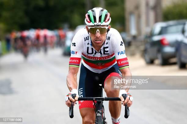 Rui Alberto Faria Da Costa of Portugal and UAE Team Emirates / during the 84th La Fleche Wallonne 2020, Men Elite a 202km stage from Herve to Mur de...