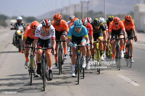 Rui Alberto Faria Da Costa of Portugal and UAE - Team Emirates / Magnus Cort Nielsen of Denmark and Astana Pro Team / during the 10th Tour of Oman...