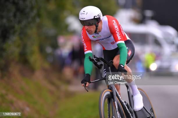 Rui Alberto Faria Da Costa of Portugal / during the 26th UEC Road European Championships 2020 - Men's Elite Individual Time Trial a 25,6km race from...