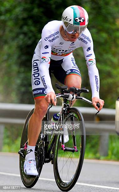 Rui Costa of Portugal and Team LampreMerida in action during Stage Six of Vuelta al Pais Vasco on April 12 2014 in Markina Spain
