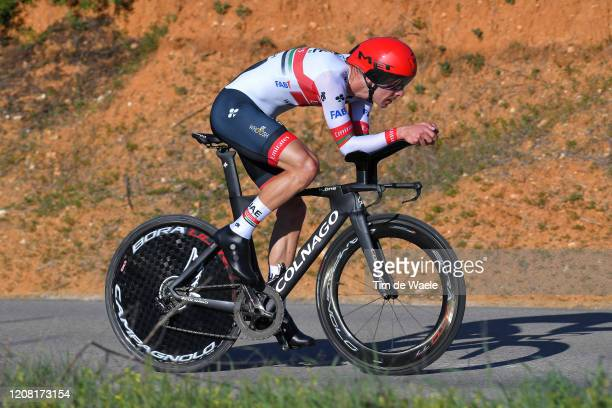 Rui Costa of Portugal and UAE-Team Emirates / during the 46th Volta ao Algarve 2020, Stage 5 a 20,3km Individual Time Trial stage from Lagoa to Lagoa...