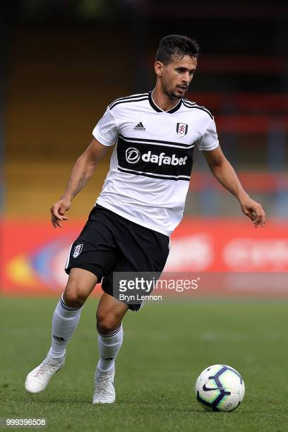 Rui Fonte of Fulham in action during the preseason friendly between Reading and Fulham at the EBB Stadium on July 14 2018 in Aldershot England