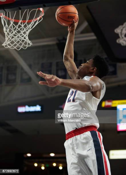 Rui Hachimura of the Gonzaga Bulldogs goes up for the dunk against the Texas Southern Tigers in the first half at McCarthey Athletic Center on...