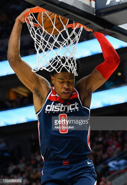 Rui Hachimura of the Washington Wizards dunks during a game against the Utah Jazz at Vivint Smart Home Arena on February 28 2020 in Salt Lake City...